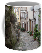 Houses Along Alley In The Old Town Of Porto Coffee Mug