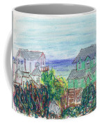Houses At Whalehead Beach Coffee Mug