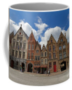 Houses Of Jan Van Eyck Square In Bruges Belgium Coffee Mug