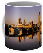 Houses Of Parliament With Westminster Bridge. Coffee Mug