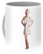 Housewife With Curlers In Hair Coffee Mug
