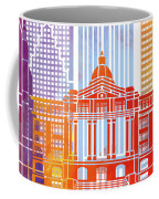 Houston Landmarks Watercolor Poster Coffee Mug