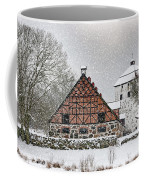 Hovdala Castle Gatehouse And Stables In Winter Coffee Mug