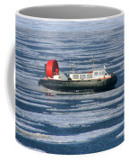 Hovercraft On Frozen Artic Ocean Coffee Mug