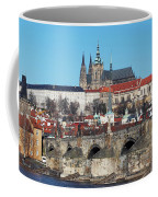 Hradcany - Cathedral Of St Vitus And Charles Bridge Coffee Mug