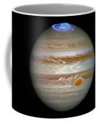 Hubble Captures Vivid Auroras In Jupiter's Atmosphere Coffee Mug