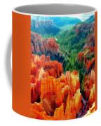 Hues Of The Hoodoos In Bryce Canyon National Park Coffee Mug