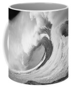Huge Curling Wave - Bw Coffee Mug