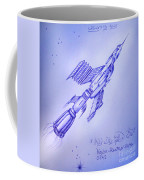 Huge Space Shuttle. In Antiworld Coffee Mug