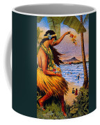 Hula Flower Girl 1915 Coffee Mug