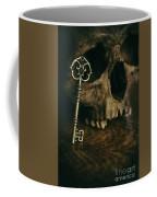 Human Skull With Vintage Key Coffee Mug