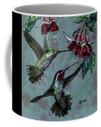Hummers And Fuchsia Coffee Mug