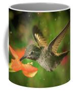 Hummingbird And The Monkey Flowers Coffee Mug