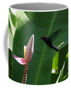 Hummingbird At Banana Flower Coffee Mug
