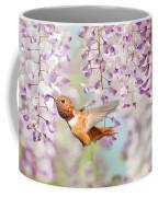 Hummingbird At Wisteria Coffee Mug