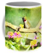 Hummingbird Attitude - Digital Paint 1 Coffee Mug