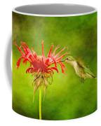 Hummingbird Bee Balm And Textures Coffee Mug