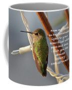 Hummingbird Christmas Card Coffee Mug