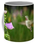 Hummingbird Hovering In Rain Coffee Mug