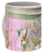 Hummingbird In The Garden Coffee Mug