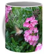 Hummingbird Moth On Pink Verbena Coffee Mug