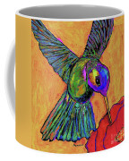 Hummingbird On Yellow Coffee Mug