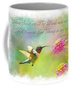 Hummingbird With Bible Verse Coffee Mug