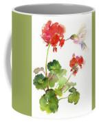 Hummingbird With Geranium Coffee Mug