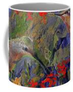 Hummingbirds 2, Abstract Art Coffee Mug