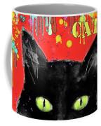 humorous Black cat painting Coffee Mug by Svetlana Novikova