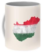 Hungary Map Art With Flag Design Coffee Mug