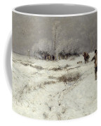 Hunting In The Snow Coffee Mug by Hugo Muhlig