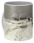 Hunting In The Snow Coffee Mug by Hugo Muhlig