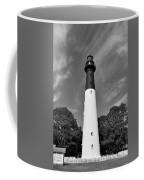 Hunting Island Lighthouse Beaufort Sc Black And White Coffee Mug