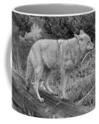 Hunting With Ears Back Black And White Coffee Mug