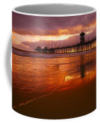 Huntington Beach At Sunset Coffee Mug