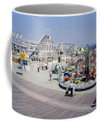Hunts Pier On The Wildwood New Jersey Boardwalk, Copyright Aladdin Color Inc. Coffee Mug
