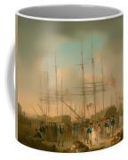 Hussars Embarking At Deptford Coffee Mug