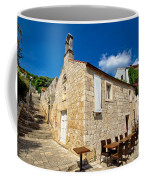 Hvar Old Stone Church And Antic Steps Coffee Mug