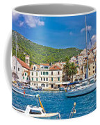 Hvar Yachting Harbor And Historic Architecture Panoramic  Coffee Mug