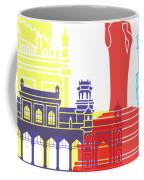 Hyderabad Skyline Pop Coffee Mug