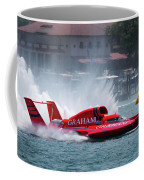 hydroplane racing boat on the Detroit river Coffee Mug