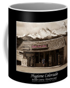 Hygiene Colorado Bw Fine Art Photography Print Coffee Mug