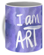 I Am Art Painted Blue And White- By Linda Woods Coffee Mug
