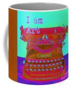 I Am Art Typewriter Coffee Mug