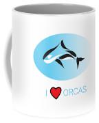 I Love Orcas Coffee Mug