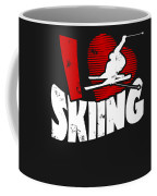 I Love Skiing Coffee Mug