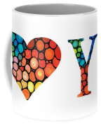 I Love You 14 - Heart Hearts Romantic Art Coffee Mug