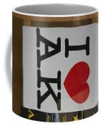 I Luv Alaska  Logo Coffee Mug