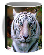 Ice Blue Eyes Of The Tiger Coffee Mug